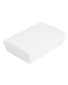 lunch box lid 'thepack' 230 gsm 20x14x5 cm white nano-micro corrugated cardboard (360 unit)