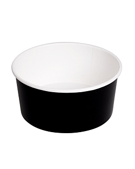 salad bowls 750 ml 320 + 18 pe gsm Ø 14,5/12,5x7 cm black cardboard (500 unit)