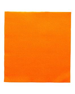 serviettes ecolabel 'double point' 18 g/m2 39x39 cm clementine ouate (1200 unitÉ)