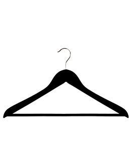 standard hangers 44,5x1,2x23 cm black wood (48 unit)