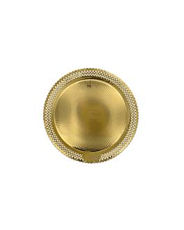 assiettes dentelÉes 'erik' 1200 g/m2 + 300 g/m2 pp Ø 23 cm dore carton (100 unitÉ)