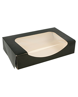 sushi boxes+frontal 275 gsm 17,5x12x4,5 cm black cardboard (400 unit)