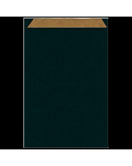 sacchetti piani unicolore 60 g/m2 26+9x38 cm nero kraft a costine (250 unitÀ)