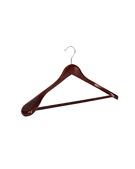 classic hangers 'superior' 44,5x5,8x24,5 cm brown wood (48 unit)