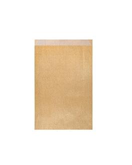 bolsas planas 60 g/m2 12+5x18 cm oro kraft verjurado (250 unid.)