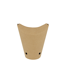 chips cups closed 12 oz - 360 ml 200 + 25pe gsm 6,7x12,5 cm brown cardboard (2500 unit)