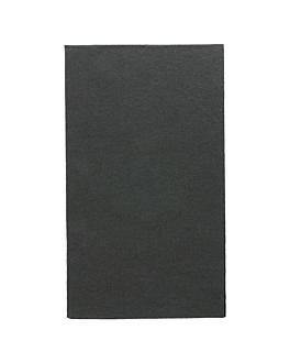 ecolabel napkins f. 1/6 'double point' 18 gsm 33x40 cm black tissue (2000 unit)