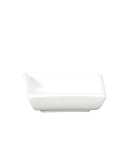recipiente rectangular 6,4x5,2x2 cm blanco porcelana (12 unid.)
