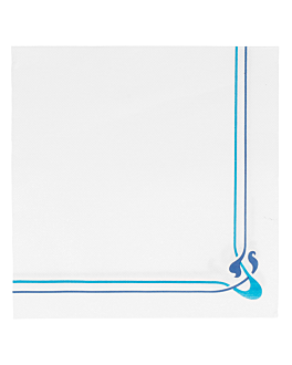 tovaglioli ecolabel blu & azzurro 'double point - maxim' 18 g/m2 40x40 cm bianco tissue (1200 unitÀ)