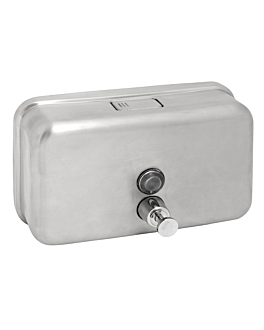 hand soap dispenser 1 l 20x12x7,7 cm silver stainless steel (1 unit)