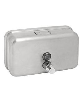 distributore gel per mani 1 l 20x12x7,7 cm argento acciaio inox (1 unitÀ)