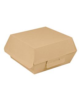 conchas hamburguesa 'thepack' 220 g/m2 14x12,5x6 cm natural cartÓn ondulado nano-micro (450 unid.)