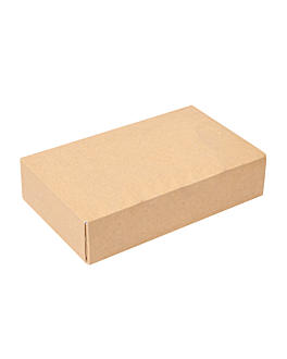 sushi boxes 'thepack' 220 gsm 17,5x12x4,5 cm brown nano-micro corrugated cardboard (400 unit)