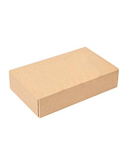 contenitori sushi 'thepack' 220 g/m2 17,5x12x4,5 cm marrone cartone ondulato a nano-micro (400 unitÀ)