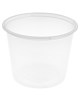 microwaveable containers 600 ml Ø 11,5x8,5 cm clear pp (500 unit)