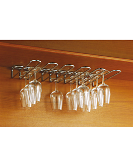 rack for glasses 5 lines 44,7x31x5,5 cm silver stainless steel (1 unit)