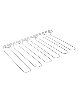 rack pour coupes 5 rangs 44,7x31x5,5 cm argente inox (1 unitÉ)