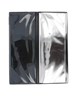 menu card 6 sleeves 10,5x29,7 cm black pvc (1 unit)