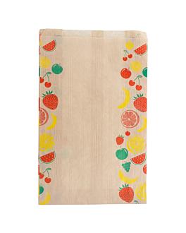 sachets plats pour fruits 1,5 kg 32 g/m2 19+8x30 cm naturel kraft (250 unitÉ)