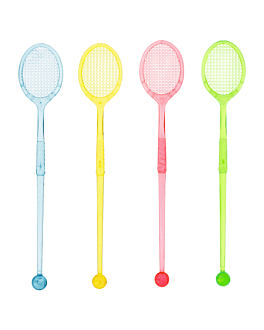 "stirrers for drinks ""tennis racket"" 16 cm assorted ps (100 unit)"
