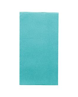serviettes ecolabel p. 1/8 'double point' 18 g/m2 40x40 cm turquoise ouate (1300 unitÉ)