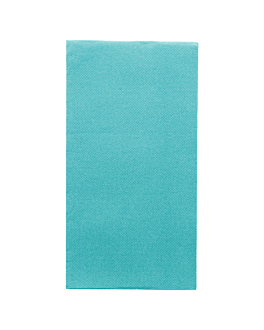 tovaglioli ecolabel p. 1/8 'double point' 18 g/m2 40x40 cm turchese tissue (1300 unitÀ)
