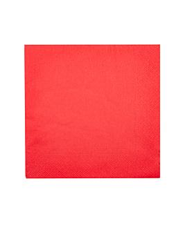 serviettes ecolabel 2 plis 18 g/m2 39x39 cm rouge ouate (1600 unitÉ)