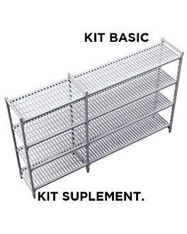 supplementary shelf windshelving 45,5x122x180 cm grey steel (1 unit)