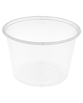 microwaveable containers 525 ml Ø 11,5x8 cm clear pp (500 unit)