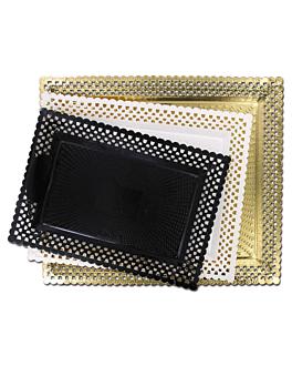 plateaux dentelÉs 'erik' 18x25 cm noir carton (100 unitÉ)