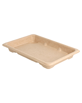 sushi boxes 'bionic' 16,5x11,5x1,5 cm natural bagasse (1000 unit)