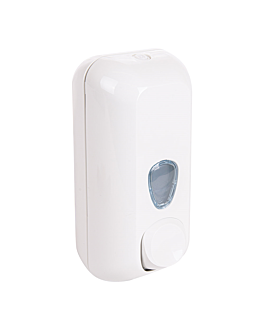soap dispenser 550 ml 22,8x9x10,2 cm white abs (1 unit)