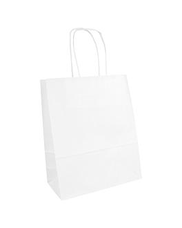 sacos sos com asas 80 g/m2 18+8x21,5 cm branco celulose (250 unidade)