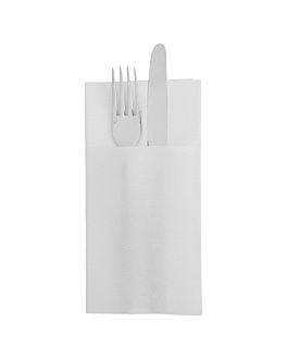 servilletas canguro 'ecolabel - double point' 18 g/m2 39x40 cm blanco tissue (1400 unid.)