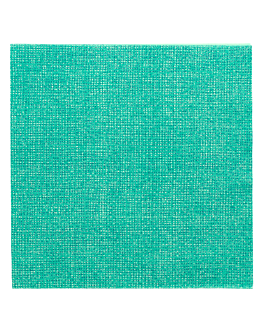 napkins 'like linen - aurora' 70 gsm 40x40 cm sea green spunlace (600 unit)