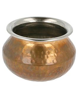 mini cuencos Ø 11x8 cm cobre inox (1 unid.)