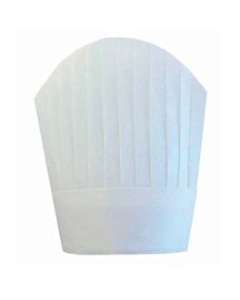 "toques continental chef's ""round top"" 26 cm blanc airlaid (10 unitÉ)"