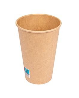 gobelets boissons chaudes 1 paroi 480 ml 300 + 18 pe g/m2 Ø9/6x13,2 cm marron carton (1000 unitÉ)
