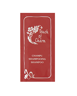 shampoo sachets 'touch of charm' 10 ml 10x5 cm burgundy pet (1000 unit)
