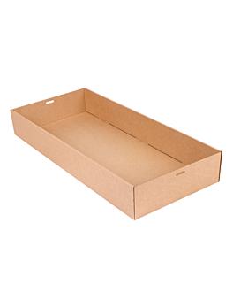 """scatole """"traiteur"""" l 375 g/m2 55,8x25,2x8 cm naturale kraft (50 unitÀ)"""