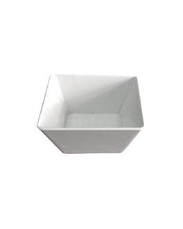 schalen 0,7 l 13x13x7 cm weiss melamin (6 einheit)