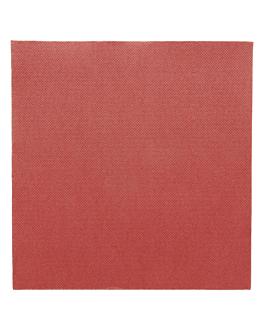 ecolabel napkins 'double point' 18 gsm 39x39 cm burgundy tissue (1200 unit)