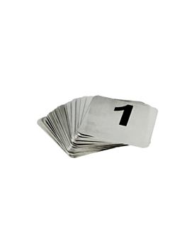 tabletop numbers from 26 to 50 9,5x8,8 cm silver stainless steel (1 unit)