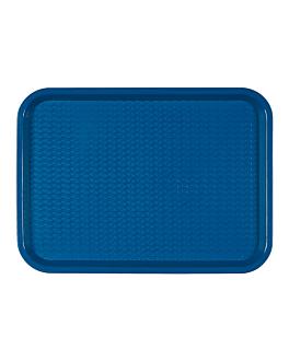 fast food tray 27,5x35,5 cm blue pp (1 unit)