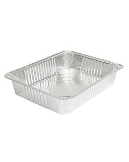 recipientes rectangulares 2100 ml 26,7x20,9x5 cm aluminio (600 unid.)