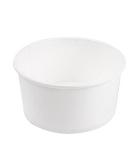 ensaladeras 1000 ml 18pe + 340 + 18 pe g/m2 Ø15/12,9x8 cm blanco cartÓn (300 unid.)