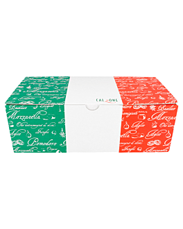 calzone pizza boxes 30x16x10 cm white cardboard (100 unit)
