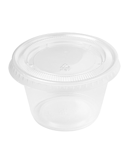 50 small containers + 50 lids 120 ml Ø7,4x4,6 cm clear pp (24 unit)
