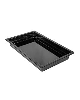 gn pans 1/1 6,5 (h) cm black melamine (3 unit)