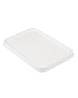 couvercles pour rÉf. 233.06/07 'bionic' 20,3x13,6x1,3 cm blanc bagasse (500 unitÉ)